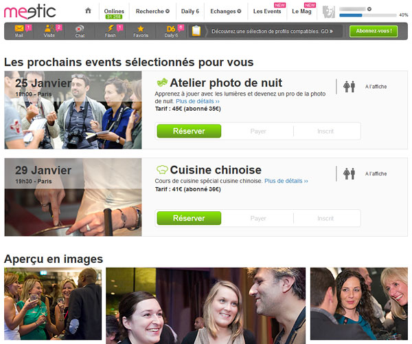 evenement meetic inscription gratuite