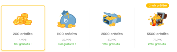 Badoo payant: combient coûte les crédits sur Badoo?